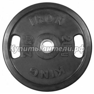 Блин обрезиненный  Евро-Классик 20 кг (d51) с хватами